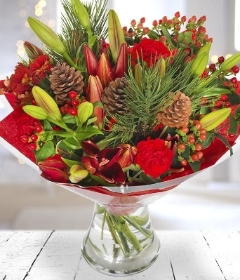 Christmas Lily bouquet